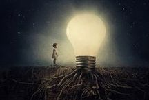 """Light Bulb Art / Just some light bulb inspired art to """"brighten"""" up your day. / by 1000Bulbs.com"""