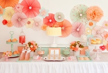 PARTY STYLING INSPIRATION / Great ideas on party styling for dessert table backdrops, color combos and party set ups found via Rebekah Dempsey at www.ablissfulnest.com.  / by A Blissful Nest