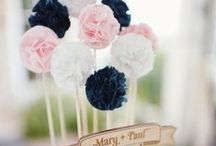 TISSUE POMS / Different ways to decorate with tissue poms and easy tutorials on how to make them found via Rebekah Dempsey at www.ablissfulnest.com.  / by A Blissful Nest