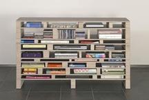 Bookworm / Boekenkast | Boekenrek | Boekenplank | Tijdschriftenrek | Bibliotheek / by Ank | 2d studio in vorm