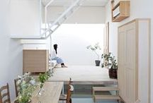A Smallish Hut In Lilliput / rustic cottage or modern minimal, i like small spaces and multifunctional furnishings / by Susan McGarvey