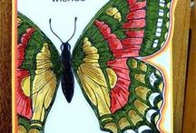 Swallowtail  Butterfly Cards SU / by Patricia Lemont