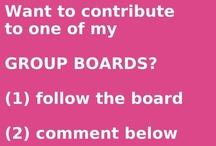 ϠϠϠ follow me ϠϠϠ  / for pinners who want to be added on my boards..comment & kindly indicate the board/s you want to follow...THANK YOU for wanting to be included in my board/s.SPAMMERS BEWARE! / by agnusdei