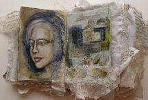 Creative Fabric Journals / More creative inspiration at www.Linda-Matthews.com / by Linda Matthews