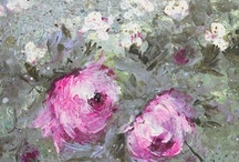 Laurence Amélie's paintings / Tutu's and flowers / by Tania Boureau