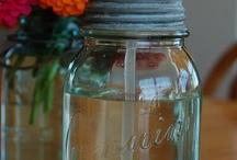 Mason Jars & Wine Bottles / by Jack Deb Hoover