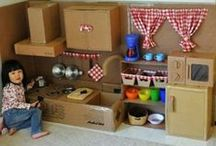 Kids DIY with cardboard boxes / by Mikaela Felstead