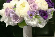 Wedding - Decor and Flowers / Purples, gray, silver...  sparkly, night on the town, February season flowers. / by Debbie Carroll