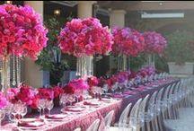 Fuchsia - Magenta - Pink Weddings / Fuchsia, Magenta, pinks  Wedding flowers, Bouquets, Centerpieces, Ceremony, receptions / by Fleurs De France