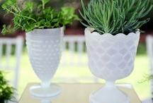 Milk Glass / Vintage Glass / Milk glass, vintage glass, vases, centerpieces, receptions / by Fleurs De France
