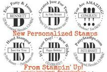 Personalized Rubber Stamps / Get your Stampin' Up! Personalized Rubber Stamps created for any occasion, wedding, baby, graduation, party, home based business, this belongs to ... endless po / by Patty Bennett