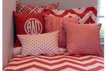 Sorority Greek Bedding and Decor / Custom sorority bedding in the fabric of your choice and with YOUR greek letters.  Design yours today! Perfect for unique recruitment tour rooms! / by Decor 2 Ur Door