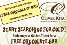 Golden Ticket Giveaway! / Buy an Oliver Kita chocolate bar and enter a chance to win a free trip for two to Mohonk Mountain House in Hudson Valley, New York! / by Oliver Kita Chocolates