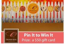 """Thanksgiving Pin It To Win It / Oliver Kita Chocolates is happy to announce our Thanksgiving """"Pin It To Win It"""" Contest, where one lucky winner will receive a $50 gift card to use on Oliver Kita chocolates either online or by visiting our Hudson Valley chocolates shop. Simply pin an image to be entered for a chance to win. The winner will be selected at random and announced on Friday, November 29, 2013 on the Oliver Kita Chocolates Pinterest page. For more, visit our contest page: http://www.oliverkita.com/pages/contests / by Oliver Kita Chocolates"""