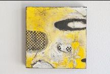 SOME OF MY ARTWORK / Experimenting with a new medium encaustic  / by Elaine Roy