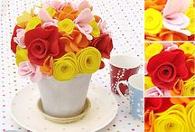 Felt Flowers / Decor / by Angela Pingel