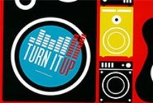 Turn It Up  / Orange's newest Summer XP curriculum. Turn It Up is a five-day VBS that takes a journey through the Bible, giving kids context for God's Big Story. Help kids discover how they can be a part of the story when they turn up the power of God's love in their life. #thinkorange #kidmin #vbs / by First Look