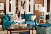 Tranquilizing Talbot / The Talbot Room Group is customizable comfort at its finest. Its fresh and elegant colors relax your surroundings, making it the perfect place to get cozy. If you're craving a different color combination, it's yours to create with our wide selection of fabrics and leathers. / by La-Z-Boy Inc.