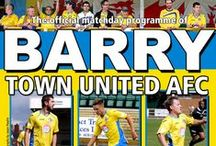 2013/14 - Programmes / Matchday programme covers from the 2013/14 season. / by Barry Town United