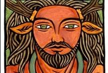 horns, antlers & hooves / Cernunnos, satyrs, fauns, centaurs, minotaures, deers, stags, bulls, horses... / by Bruno Campelo