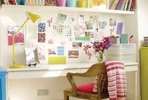 work space, desk ideas, small studio / by Marilyn Saunders