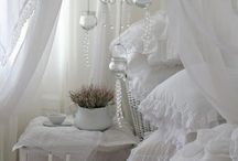 White/Shabby Chic/Vintage/French Country / Vintage finds, chippy white furniture with a French flair. Love white!!! / by Renee Branch