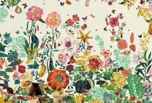 Wallcoverings / Wallpaper/art/decoration I like. / by April Louise