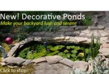 Decorative Ponds / Decorative ponds add a new level of landscaping sophistication to any yard. As simple as one pond or as complex as multiple shapes that feed into each other, our ponds allow you to have completely different plants and even goldfish as part of your backyard environs. Add plants, rocks, fountains, and even fish to make your pond special. * Price includes ground shipping to your home (lower US 48 states)  / by Backyard Discovery