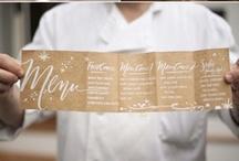 Wedding | Event Menu Cards / by Shanna Nicole Design