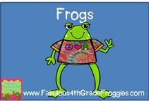 Frogs (Classroom crafts/decor/or just plain cuteness) / by Fabulous 4th Grade Froggies