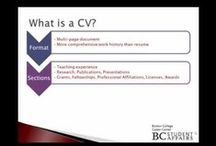 Curriculum Vitaes (CVs) / In the United States a curriculum vitae, also referred to as a cv or vita, is used primarily when applying for academic, education, scientific or research positions. It is also applicable when applying for fellowships or grants. / by Davidson Center for Career Development