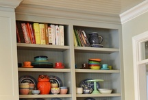 Built-Ins / furniture, shelving built in to room / by Tia Firefly