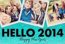 New Year's Cards / Ring in the new year with family and friends for 2014. It all starts with fun and festive invites before party planning begins. Check out an assortment of our new year's cards, invitations, and address labels. Kick off the year right with Shutterfly.  / by Shutterfly