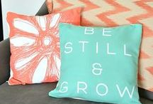 Pillow Party / Mix it up. Pile 'em on. However you choose to personalize it, make your home the way you want it with customized Shutterfly pillows.  / by Shutterfly