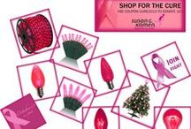 Think Pink - Shop for the Cure / Shop for the Cure this Pink October with pink Christmas lights and more. During October, Christmas Lights, Etc will be donating 10% of all sales from everyone who uses the promo code CURE2013 to Susan G. Komen Atlanta. / by Christmas Lights, Etc
