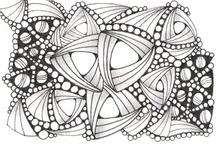 Line Designs / zentangle, artwork, black & white, ink, doodle / by Catherine Langsdorf