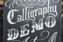 Chalkboards / Signage with chalk / by Catherine Langsdorf