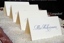 Wedding Reception / Place cards, escort cards, seating charts, guestbook / by Catherine Langsdorf