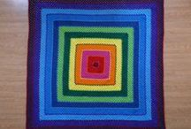 If Frank Stella crocheted / The evolution of a Frank Stella inspired granny square / by Leslie Stahlhut