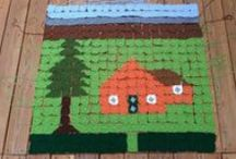 2014 North Carolina State Fair project / This is a project in progress that looks at my maternal grandmother's life through the house she lived in rendered in crochet / by Leslie Stahlhut
