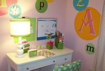 Addison's bedroom,playroom,homework station / by Mia Hebert