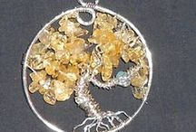 Tree of life Pendants that I have made / jewelry, gemstones, jewelry, crystals, art, turquoise, copper, silver, necklace / by Constance Brosnan