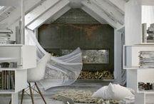 fantastic attic / Attic storeys. Farm houses. Barn houses. Beams, beams, beams.  / by Ickemixe