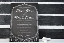 wedding stationery / wedding invitations + stationery.  #weddinginvitations #invites #stationery #weddingplanning #pocketweddinginvitations / by kristin austin