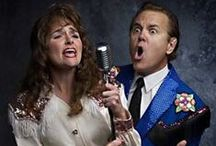 """The Doyle & Debbie Show / Called """"hilarious, brilliant and drop-dead funny"""" by the Chicago Tribune, The Doyle & Debbie Show finds a washed-up country star and his newest singing partner dusting off their microphones and resurrecting a familiar signature sound. Singing 16 original hits, including """"Stock Car Love"""" and """"Blue Stretch Pants,"""" this hilarious send-up of country music duos will have you doubled-over with laughter and roaring for an encore. / by Milwaukee Rep"""