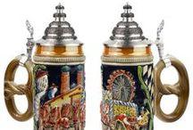 German Beer Steins / Authentic German beer steins and glasses. / by oktoberfesthaus.com