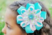 Bows / Hair Bows / Hair Accessories  / by Lori Uren
