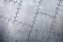 Metal Backgrounds / Metal background textures for websites and PowerPoint presentation slides. / by Shutterstock