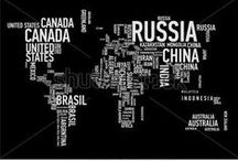 World Map Vector / Maps of the world with varying projection focused either on political features or physical features. / by Shutterstock