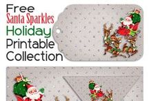 Holidays - Christmas Printables / A collection of charming Christmas printables #christmas #christmasprintables / by Malia Martine Karlinsky